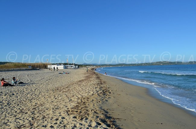 Pampelonne Beach near Saint-Tropez in the winter