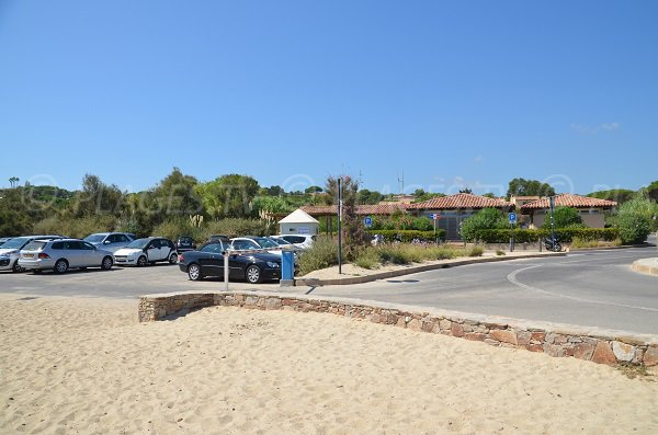 Car park of the Pampelonne beach