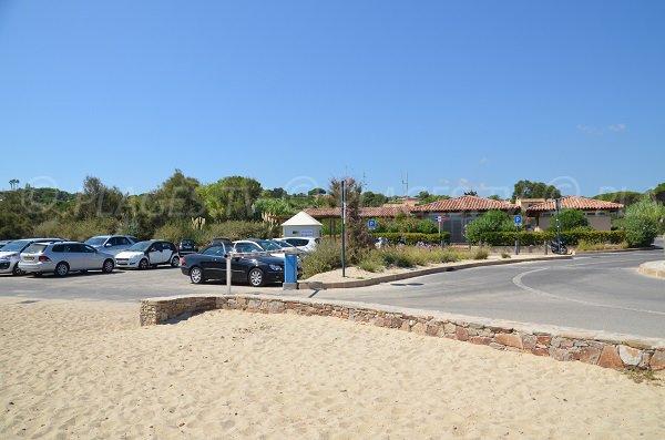 Car park of the Pampelonne beach