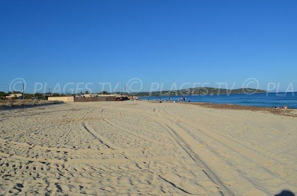 Nudist zone - Pampelonne beach in France