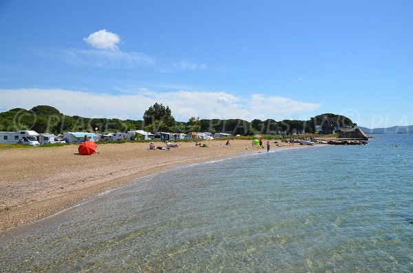 Sand beach near the camping Pansard in La Londe - France