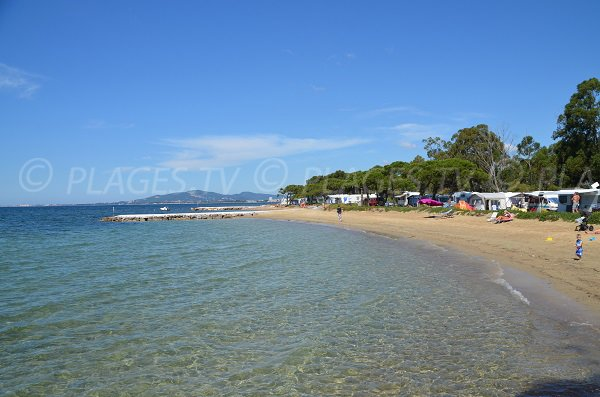 Confidential beach in La Londe les Maures