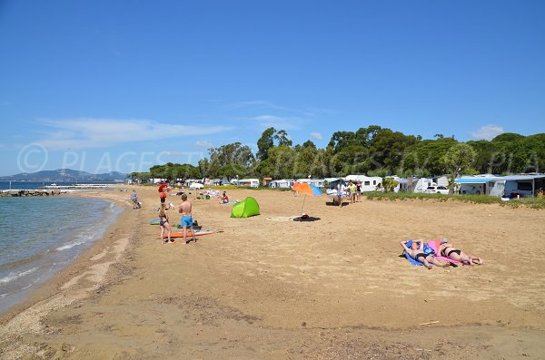 Pansard beach in La Londe les Maures in France