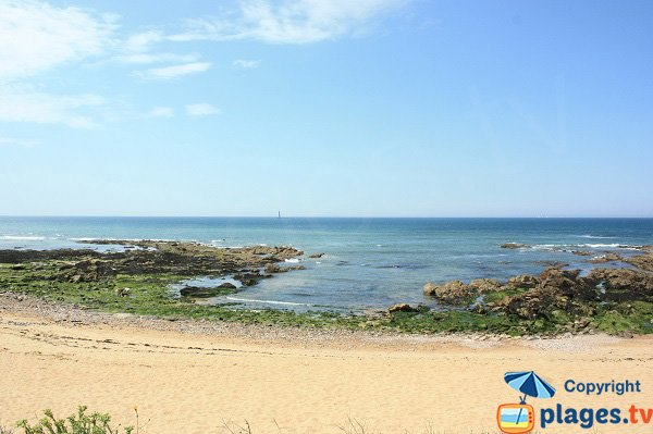Paracou beach in Les Sables d'Olonne in France