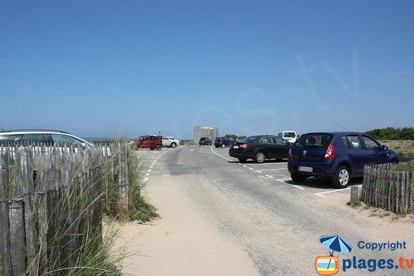 Parking of Paracou beach in Les Sables d'Olonne