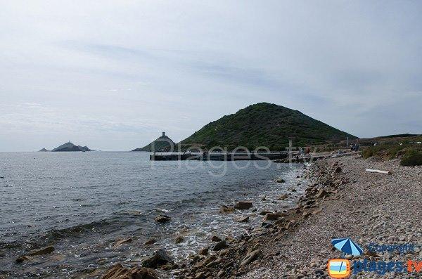 Vue sur les Sanguinaires depuis la plage - Ajaccio