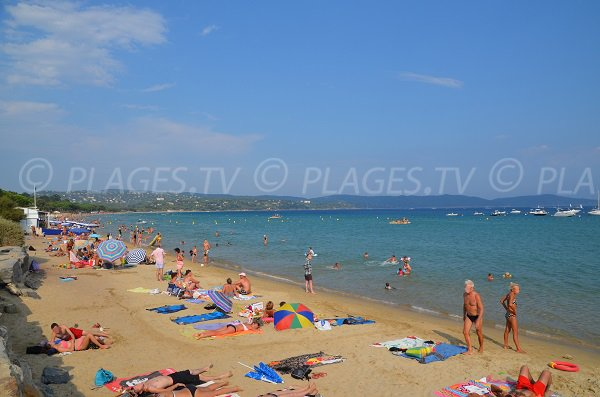 Parc beach and view on Cavalaire bay - Var