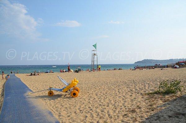 Accesso per disabili spiaggia Pardigon