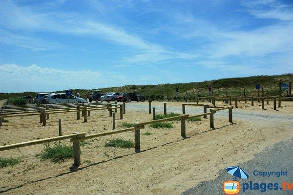 Parking of Parée Préneau beach - St Hilaire de Riez