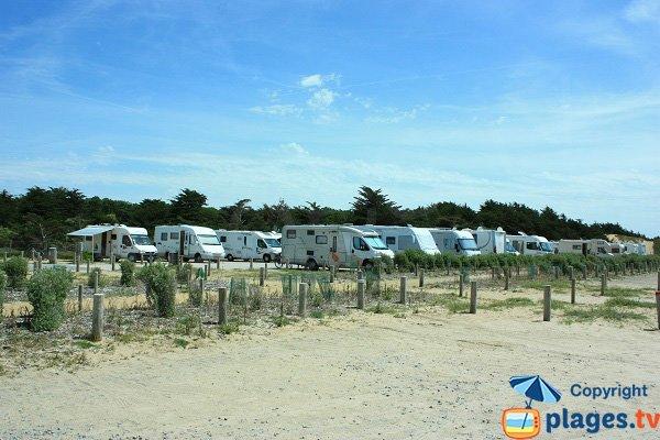 camping-car area in Parée Préneau beach