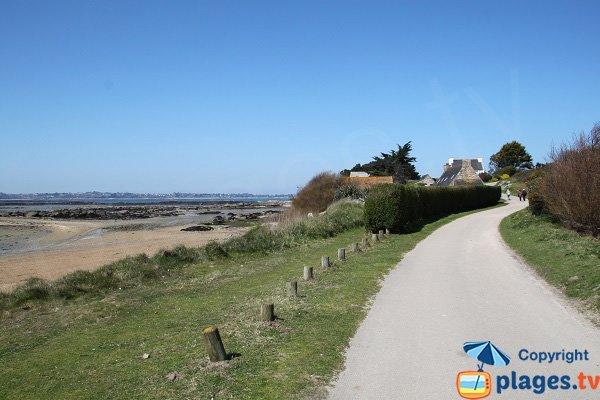 Photo de la plage de Park an Aod sur l'ile de Callot en Bretagne
