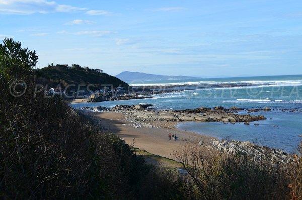 Guéthary et plage de Parlementia