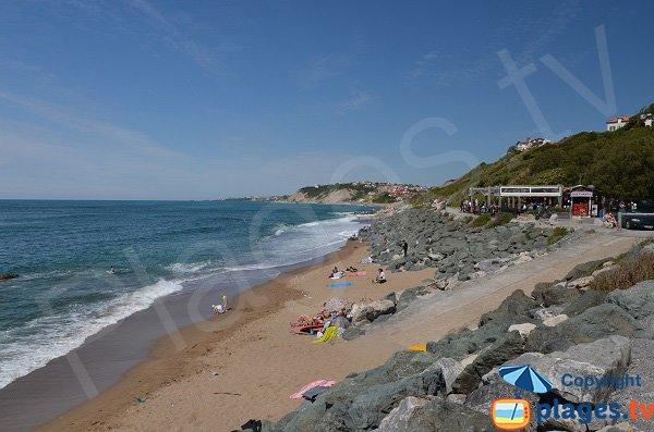 Beach between Bidart and Guethary