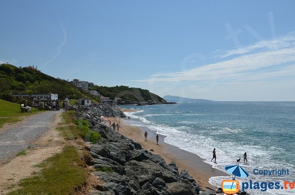 Photo of Parlementia beach in Guethary in France