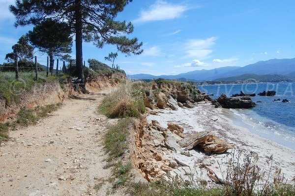 Crique sur le sentier du littoral de Patrimonio en Haute Corse
