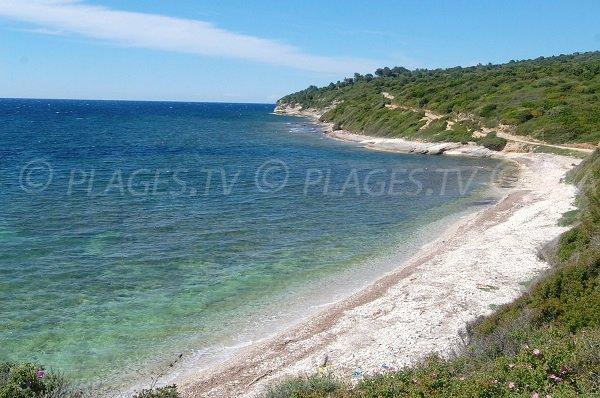 Spiaggia vicino Punta di i Cani a Patrimonio - Corsica