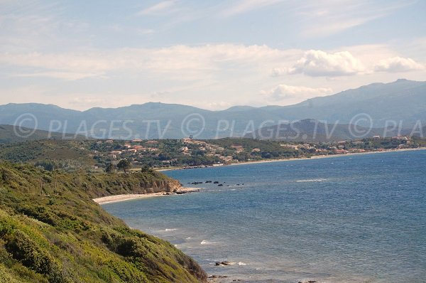 View of the beaches of St Florent from Patrimonio