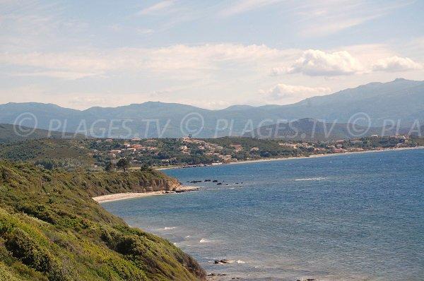 Vue sur les plages de St Florent depuis Patrimonio