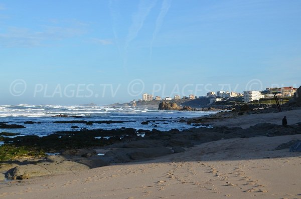 Visualizza spiagge di Biarritz dalla spiaggia Pavillon Royal di Bidart