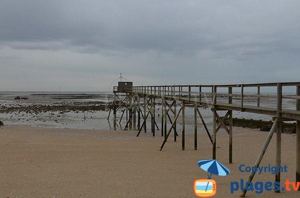 Pêcherie sur la plage de Les Moutiers en Retz