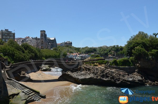 Harbor beach with bridge - Biarritz