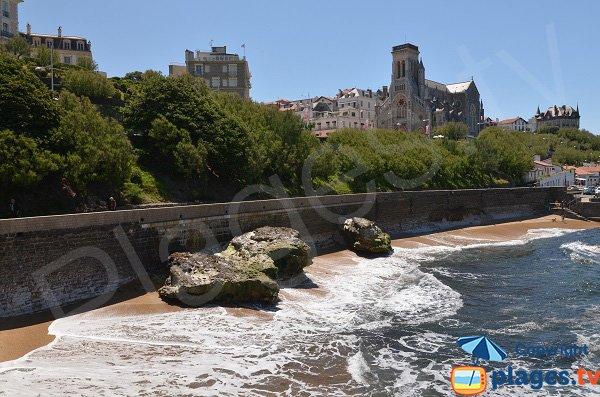 Harbor beach at high tide - Biarritz