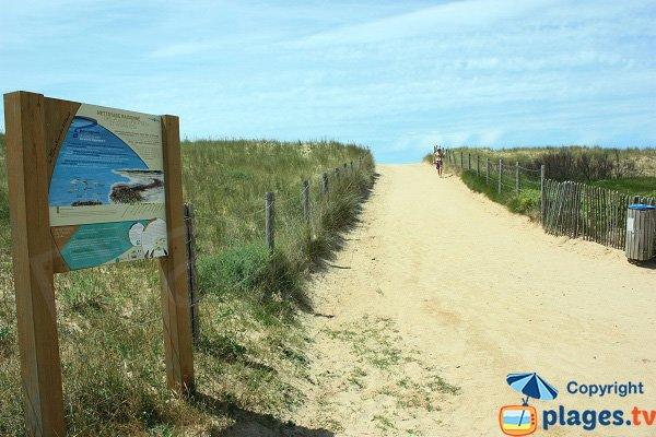 Accès à la plage de la Pége - St Hilaire de Riez