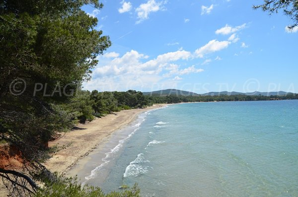 Pellegrin beach in La Londe les Maures in France