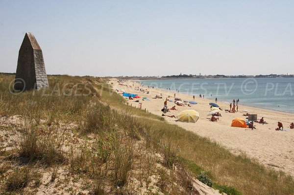 Photo naturist beach in La Turballe in France