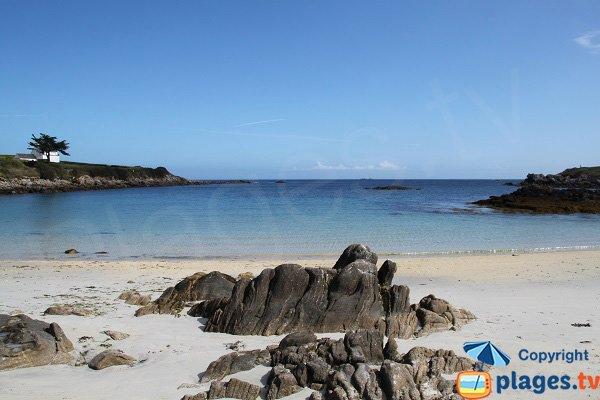 Photo de la plage de Pen Enez à Plouguerneau