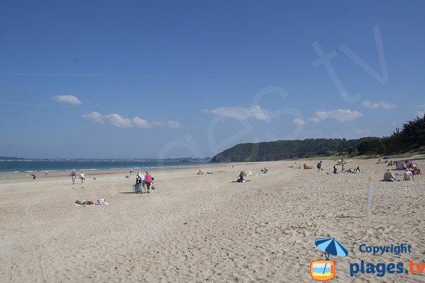 Pen Guen beach in St Cast Guildo in Brittany