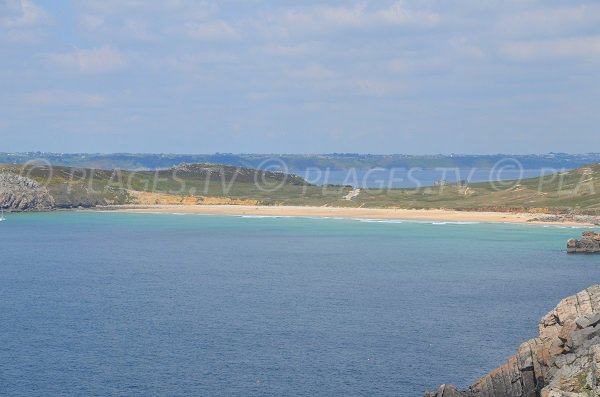 Pen Hat beach in Camaret sur Mer in France