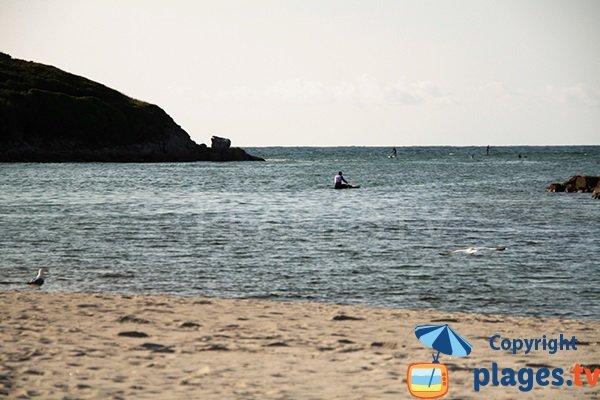 Plage pour le surf à Argenton - Landunvez