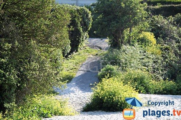 Cale de mise à l'eau de la plage de Pentoull - Landunvez