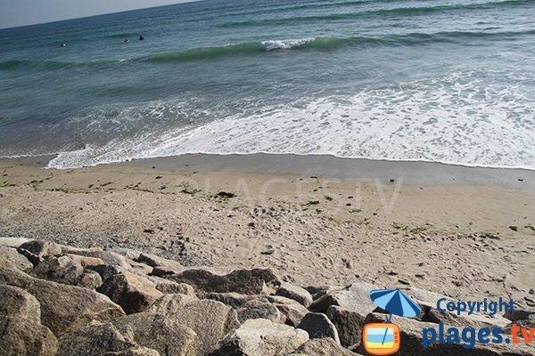 Plage de sable à Penhors en Bretagne - Pouldreuzic