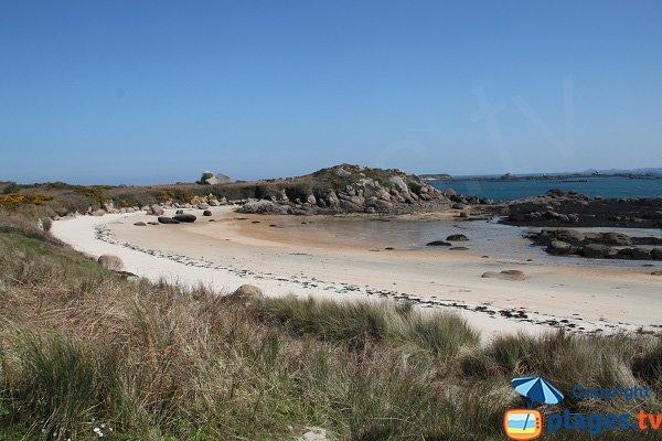 Photo de la plage de Penn ar Waremm sur l'ile de Callot