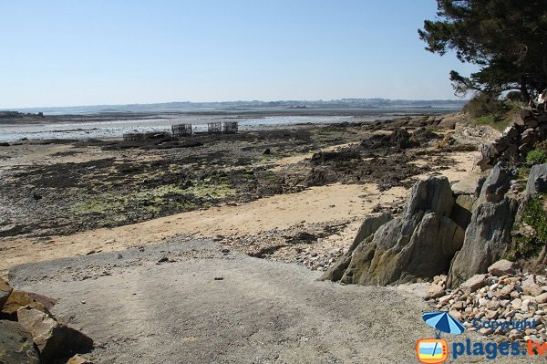 access to the beach - island of Callot - Pennenez