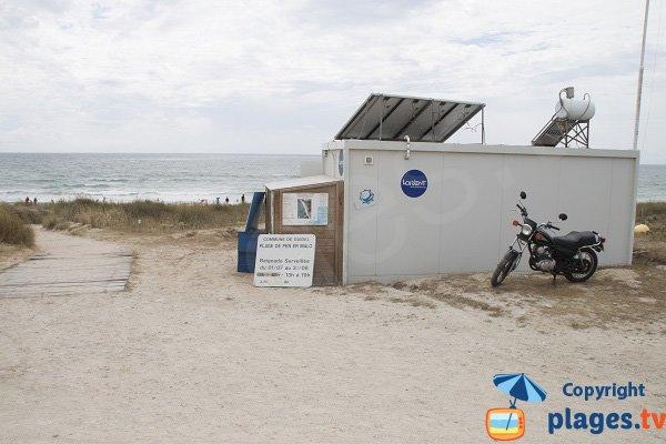 Lifeguard station of Penn er Malo - Guidel