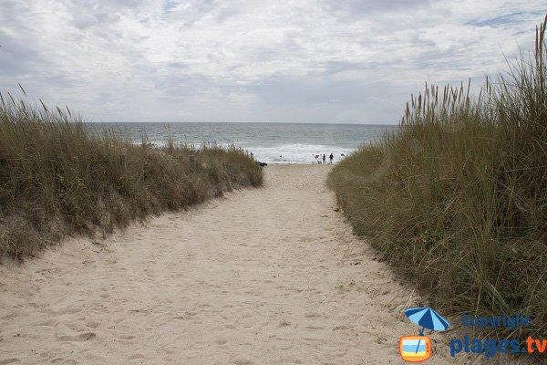 Accès à la plage de Penn er Malo - Guidel