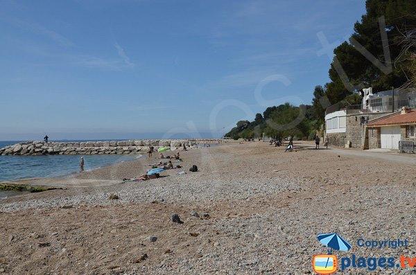 Photo de la plage du Péno de Carqueiranne