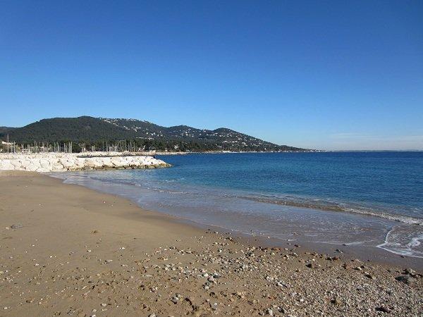 Péno beach in Carqueiranne in France