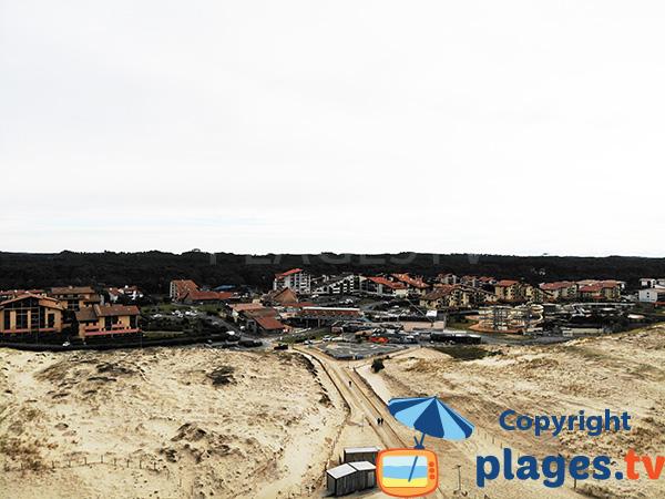 Centre de Seignosse avec la plage