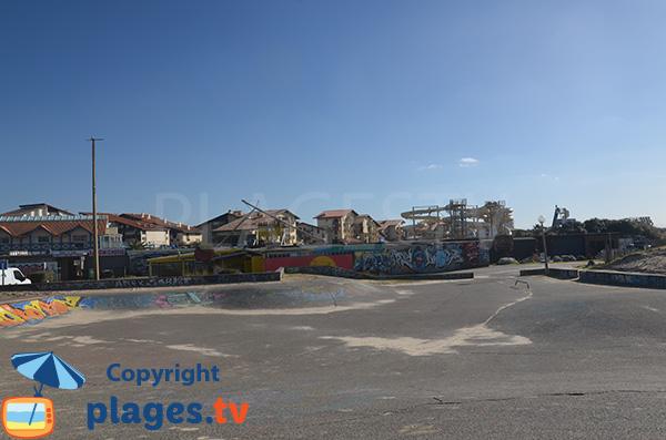 Skate park au niveau du centre de Seignosse