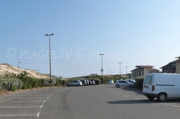 Parking gratuit de la plage du Penon à Seignosse - Landes