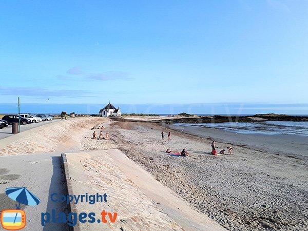 Photo de la plage de Penvins à Sarzeau en été