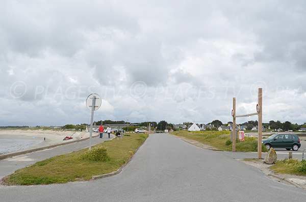 Parking de la plage de Penvins