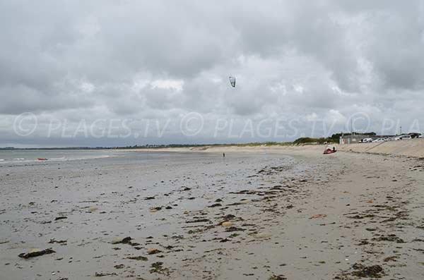 Kitesurf sur la plage de Penvins