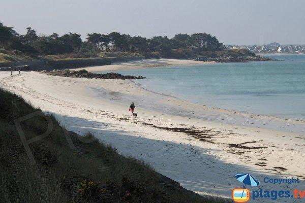 Beach of Perharidi and Santec