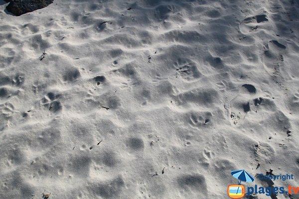 Sand of Perharidi beach