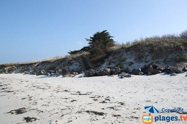 Dune of Perharidi beach in Roscoff